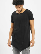 Urban Classics T-Shirt Long Open Edge Front Zip noir