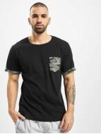 Urban Classics T-Shirt Camo Contrast noir