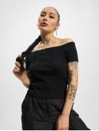 Urban Classics T-Shirt Off Shoulder Rib noir
