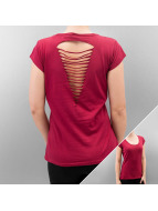 Urban Classics T-Shirt Ladies Cutted Back red