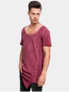 Urban Classics T-Shirt Asymetric Long Spray Dye red