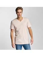 Urban Classics T-Shirt Basic V-Neck rosa