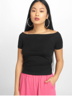 Urban Classics T-Shirt Off Shoulder Rib schwarz