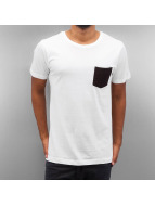 Urban Classics T-Shirt Quilted Pocket white