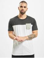 Urban Classics t-shirt 3-Tone Pocket wit