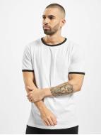 Urban Classics t-shirt Ringer wit