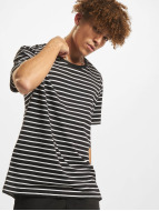 Urban Classics t-shirt Striped zwart