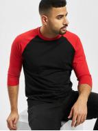 Urban Classics t-shirt Contrast 3/4 Sleeve Raglan zwart