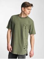 Urban Classics T-shirtar Ripped Pocket oliv