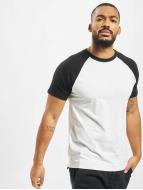 Urban Classics T-Shirts Raglan Contrast beyaz