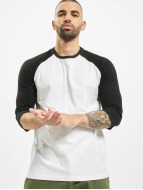 Urban Classics T-Shirts Contrast 3/4 Sleeve Raglan beyaz