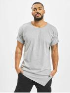 Urban Classics T-Shirts Asymetric Long gri