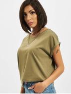 Urban Classics T-shirts Extended Shoulder oliven