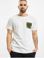 Urban Classics T-Shirty Camo Pocket bialy