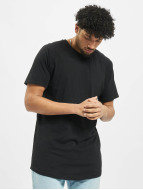 Urban Classics T-Shirty Long Shaped Slub Raglan czarny