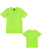 Urban Classics T-Shirty Basic Kids V-Neck zielony