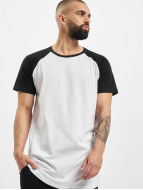 Urban Classics Tall Tees Shaped Raglan Long bianco