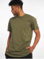 Urban Classics Tall Tees Shaped Long oliva