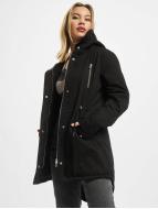 Urban Classics Talvitakit Ladies Sherpa Lined Cotton musta
