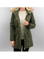 Urban Classics Talvitakit Ladies Sherpa Lined Peached oliivi