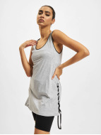 Urban Classics Tank Tops Leather Imitation Side Knotted grau