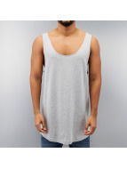 Urban Classics Tank Tops Long Shaped Open Edge Loose grigio