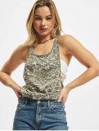 Urban Classics Tank Tops Ladies Melange Burnout Loose olive