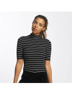 Urban Classics Top Striped Turtleneck negro