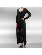 Urban Classics Top Ladies X-Long Front Slit noir