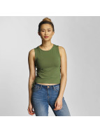 Urban Classics Top Lace Up Cropped olive