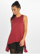 Urban Classics top Ladies HiLo Viscose rood