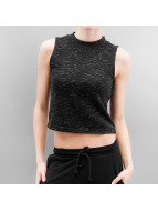 Urban Classics top Ladies Space Dye zwart