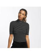 Urban Classics top Striped Turtleneck zwart