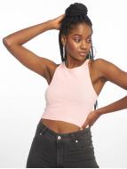 Urban Classics Tops Cropped Rib rosa chiaro