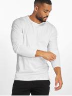 Urban Classics Tričká dlhý rukáv Fitted Stretch biela