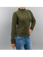 Urban Classics trui Ladies Short Turtleneck olijfgroen