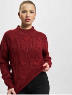 Urban Classics trui Ladies Short Turtleneck rood