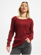 Urban Classics trui Ladies Long Wideneck rood