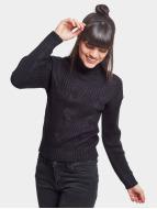 Urban Classics trui Ladies Short Turtleneck zwart