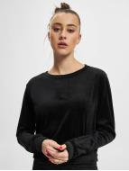 Urban Classics trui Ladies Short Velvet zwart
