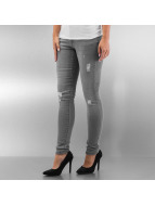 Urban Classics Tynne bukser Ripped Denim grå