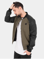 Urban Classics Übergangsjacke Cotton Bomber Leather olive