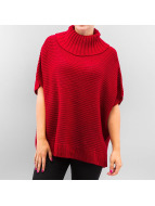 Urban Classics vest Knitted Poncho rood
