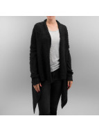 Urban Classics vest Ladies Knit Feather zwart