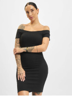 Urban Classics Vestido Off Shoulder Rib negro