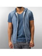 Urban Classics Vetoketjuhupparit Melange Hooded sininen