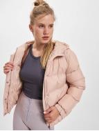 Urban Classics Winterjacke Hooded Puffer rosa