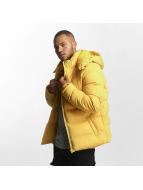 Urban Classics winterjas Hooded Boxy Puffer geel