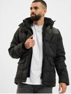 Urban Classics winterjas Material Mixed zwart