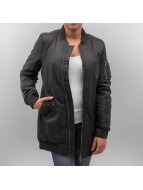 Urban Classics winterjas Long zwart